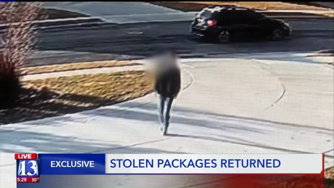 Packages stolen and then returned – with anapology