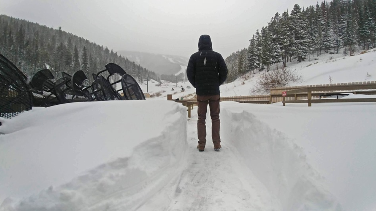Snow Piling Up At Red Lodge Mountain