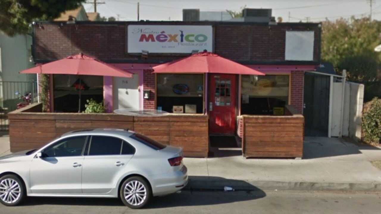 "Website calls Nuestro Mexico Restaurant ""best taco in California"""