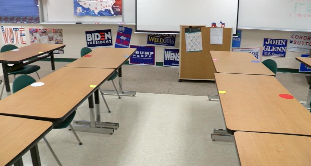 Maria Mueller's classroom at Mason High School