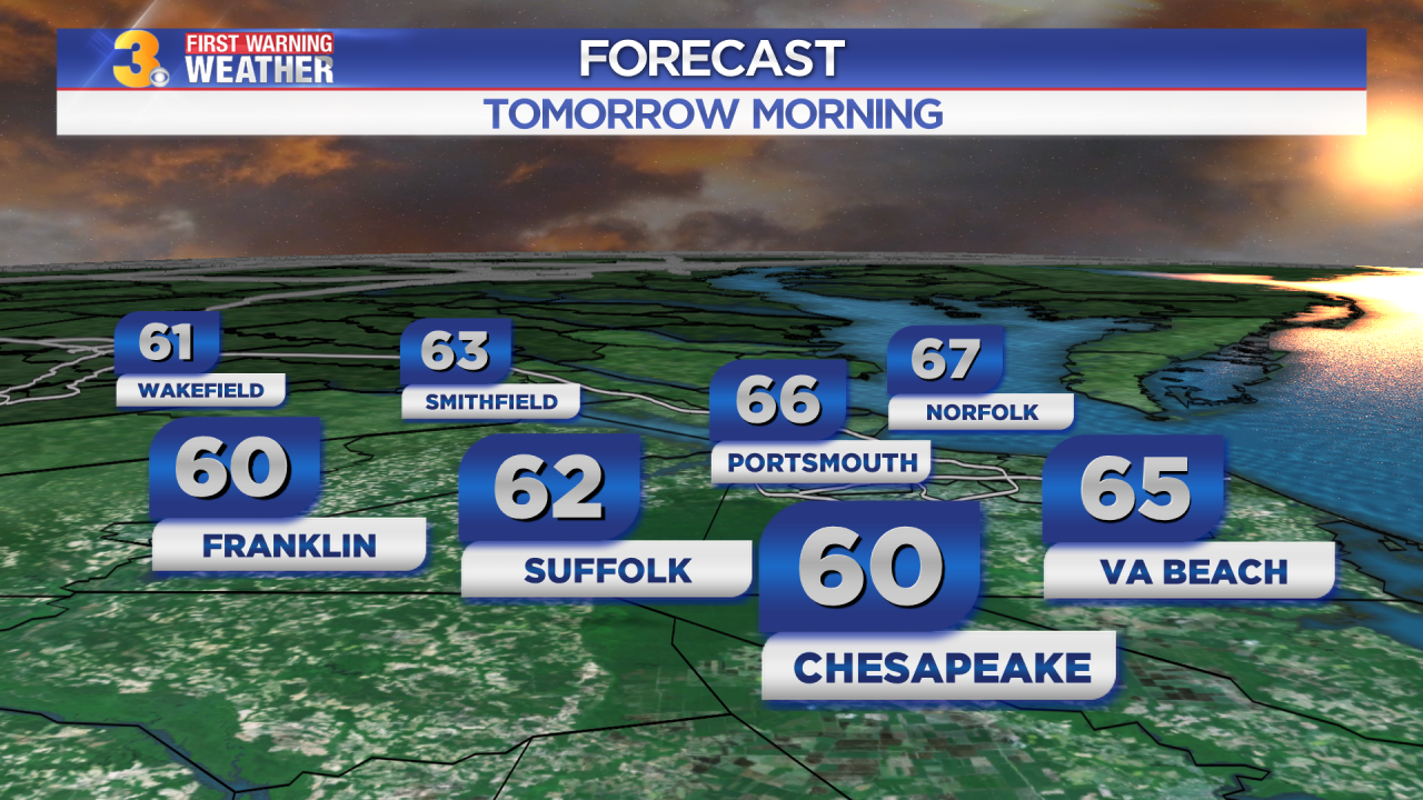 First Warning Forecast: Partly to mostly cloudy overnight with lows in the 60s