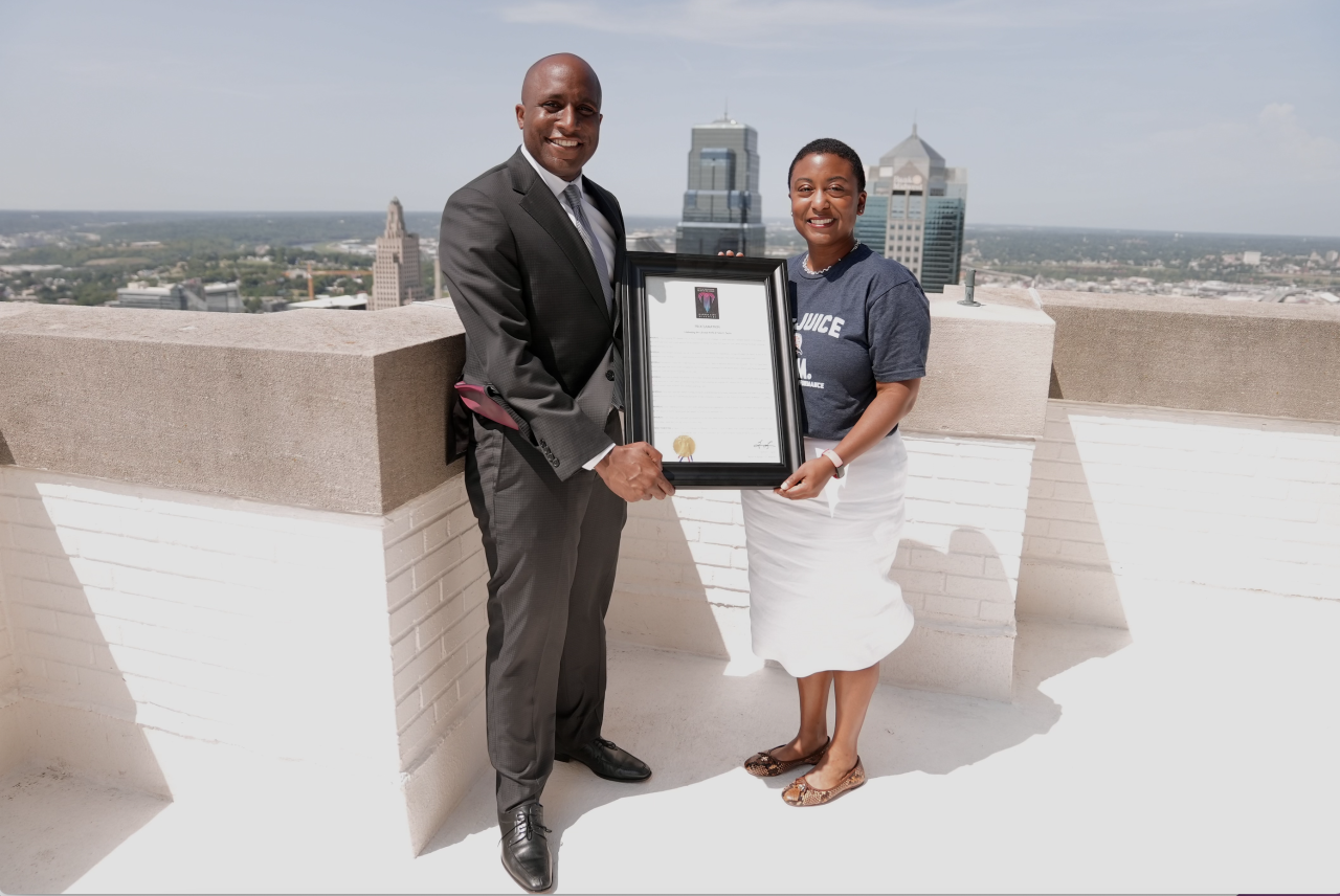 Mayor Quinton Lucas and Ebony Reed Terez Paylor Day