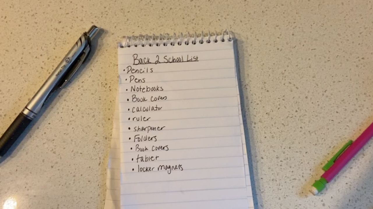 Get your shopping list ready, we have tips for you for back to school supplies