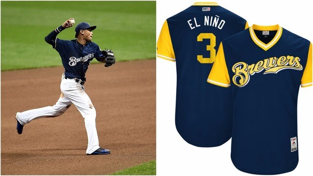 online retailer 57e15 32d94 PHOTOS: See the nicknames Milwaukee Brewers chose for ...