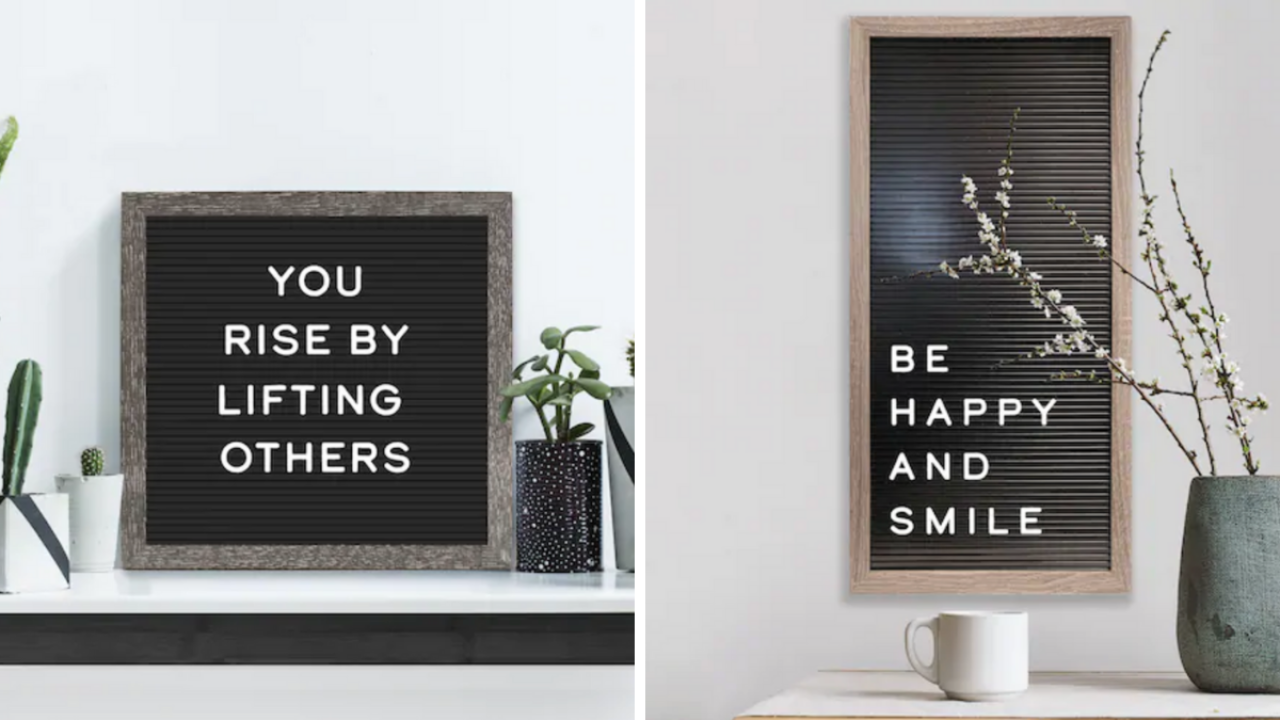 This cute letter board sign with 190 letters is on sale for $13.59 at Kohl's (regularly $40)