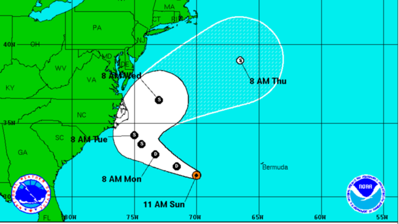 TD Eight could become a tropical storm and threaten east coast