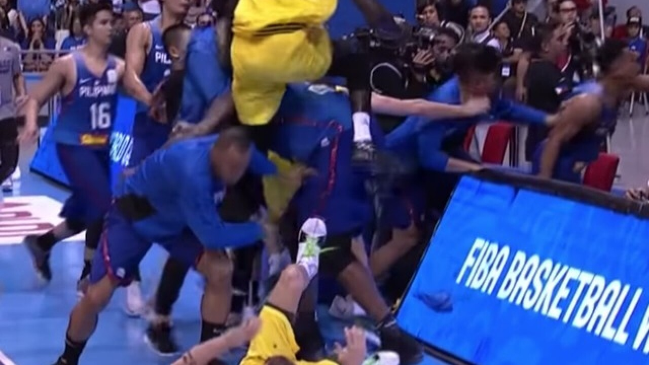VIDEO: Wild brawl breaks out in international basketball game