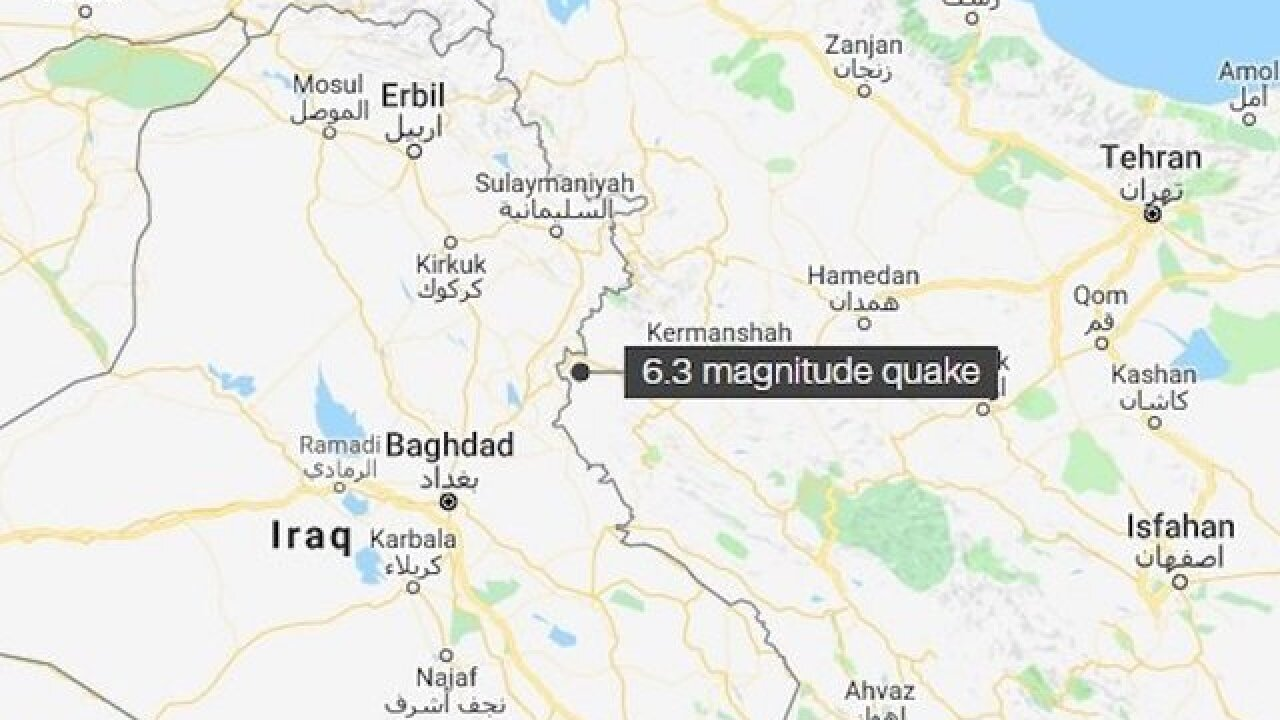 Magnitude 6.3 earthquake hits western Iran; 200 injured