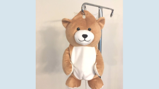 Girl with rare disease invents IV bag cover 'Medi Teddy' to make treatments more comfortable