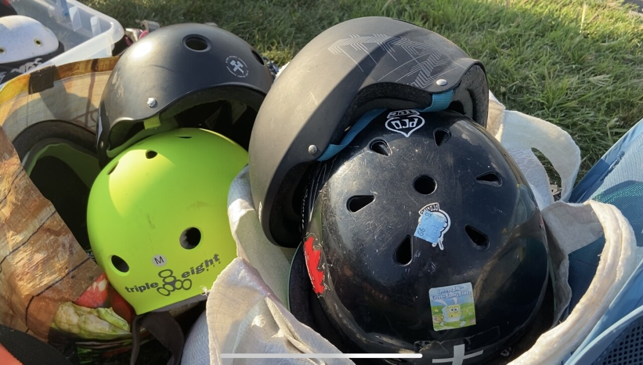 Roller derby helmets