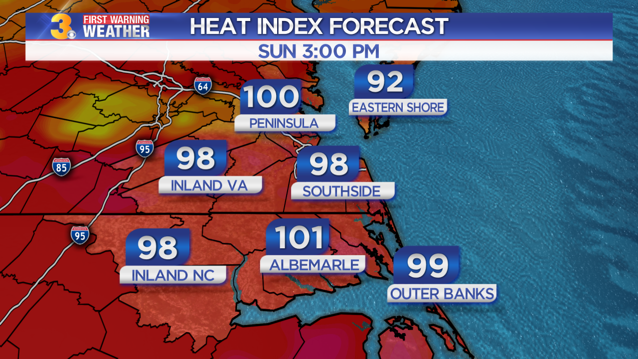 Saturday's First Warning Forecast: Feeling like the triple digits… again