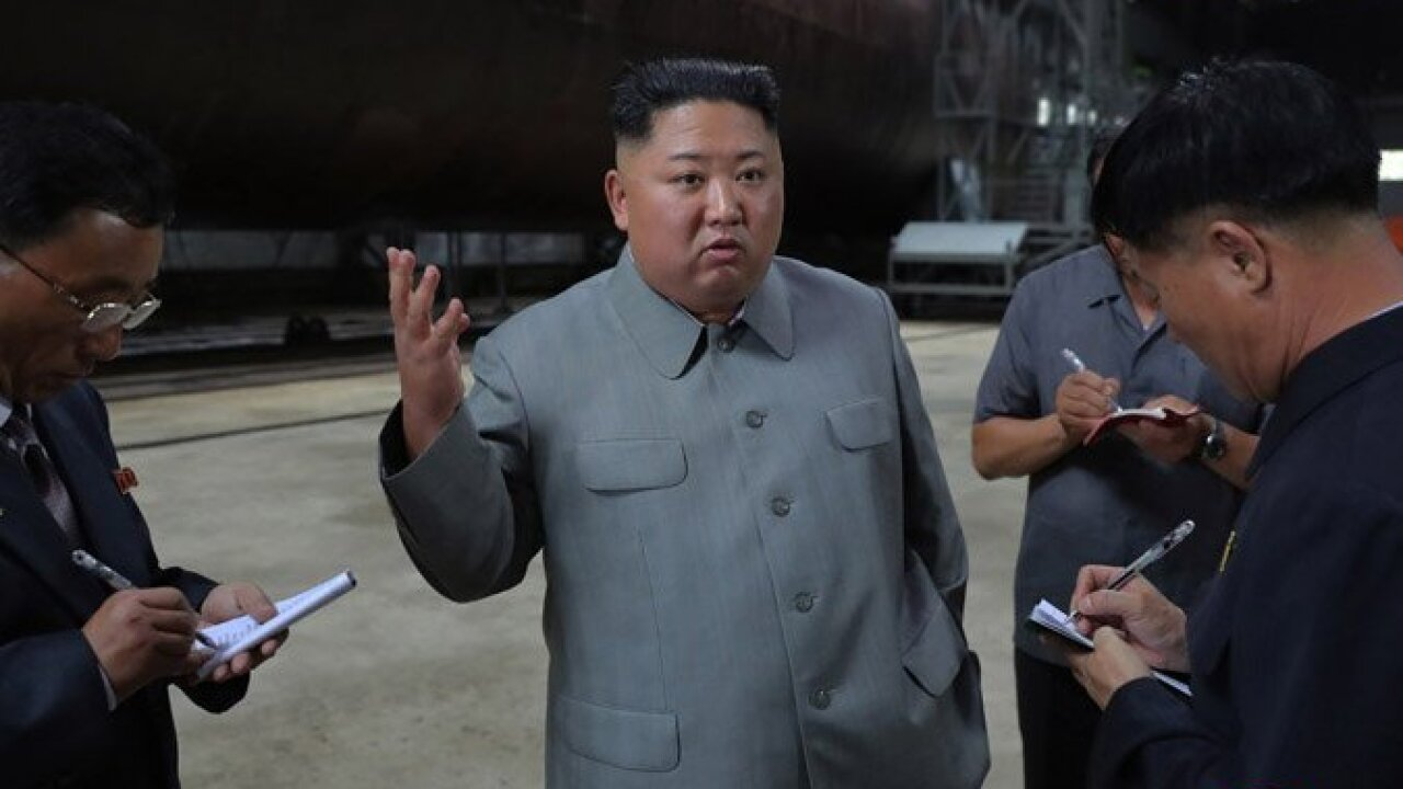 North Korea says it test fired a new type of submarine-launched ballistic missile