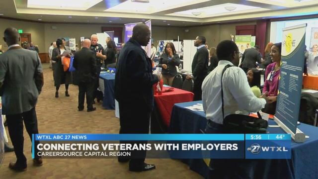 CareerSource Capital Region hosts career fair for veterans