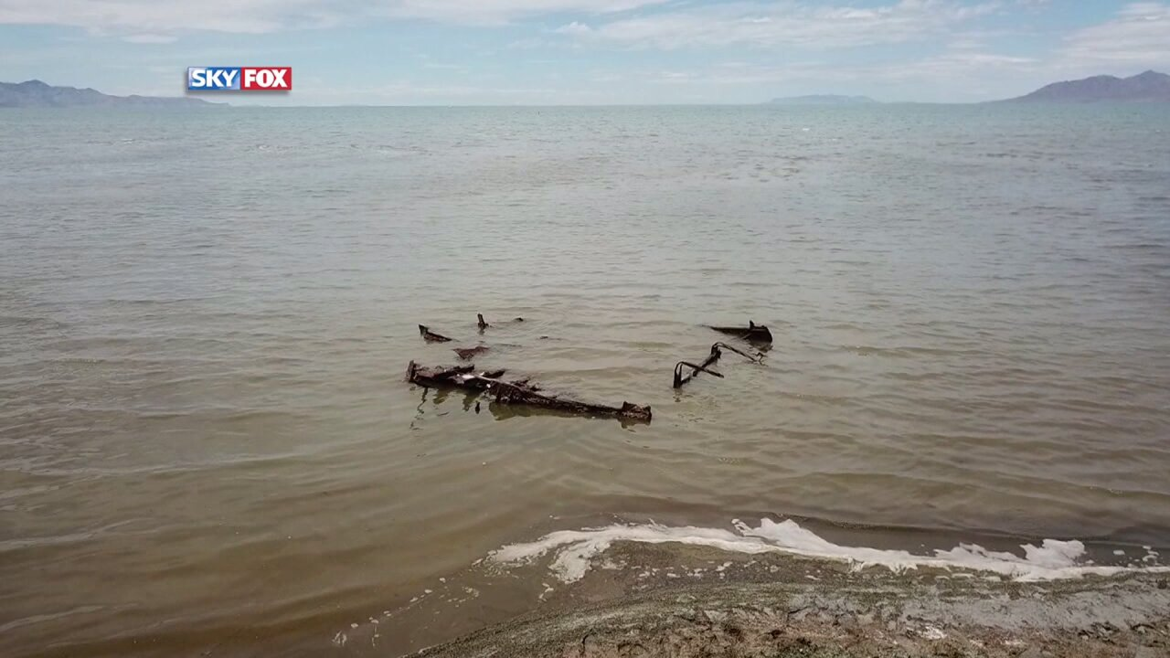 What's the history behind 100-year-old shipwreck found on the Great Salt Lake?