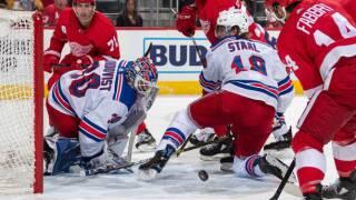 Henrik Lundqvist shuts out Red Wings in Rangers' win