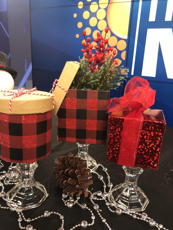 Pedestal Gift Box Centerpieces