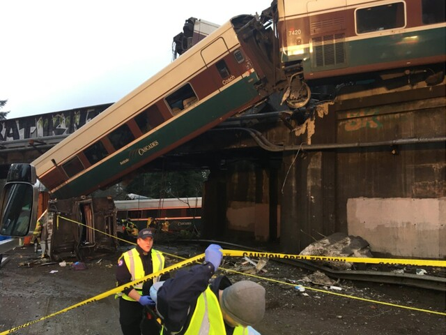 Photos: High-speed Amtrak train derails