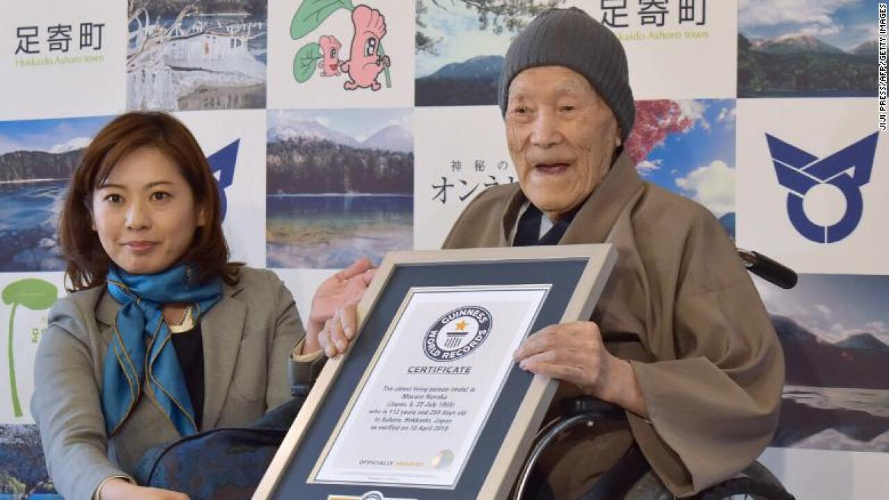 """Image result for """"World's oldest man"""" Masazo Nonaka dies in Japan at the age of 113"""