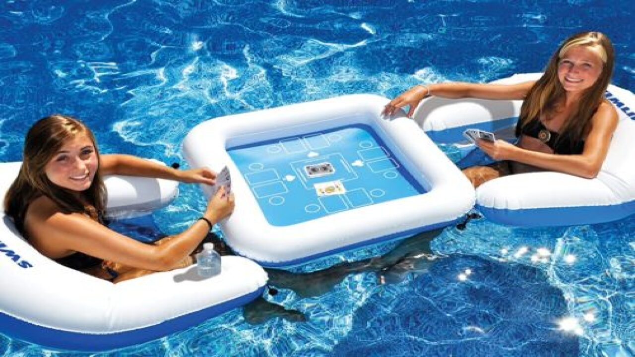 Inflatable Game Table Lets You Play—waterproof!—cards In The Pool
