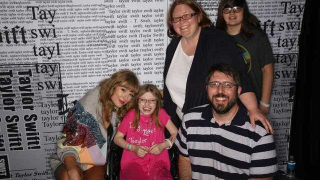 Metro Detroit girl on hospice checks bucket list and meets Taylor Swift