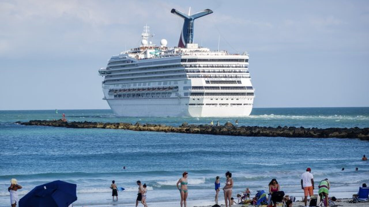 Search is on for overboard cruise passenger