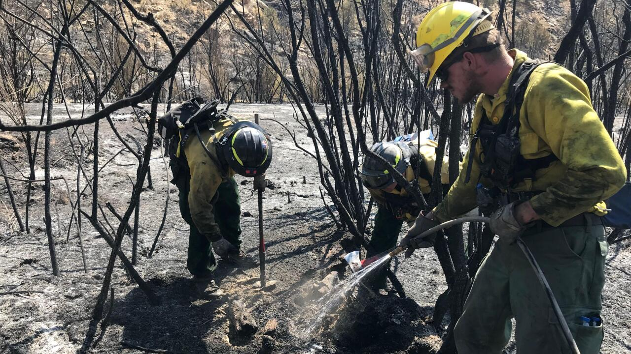 Firefighters moping up at Pine Gulch Fire_August 2020