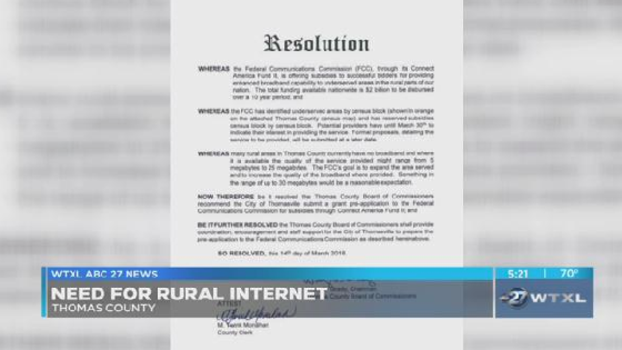 Faster internet access may be coming to rural areas in South