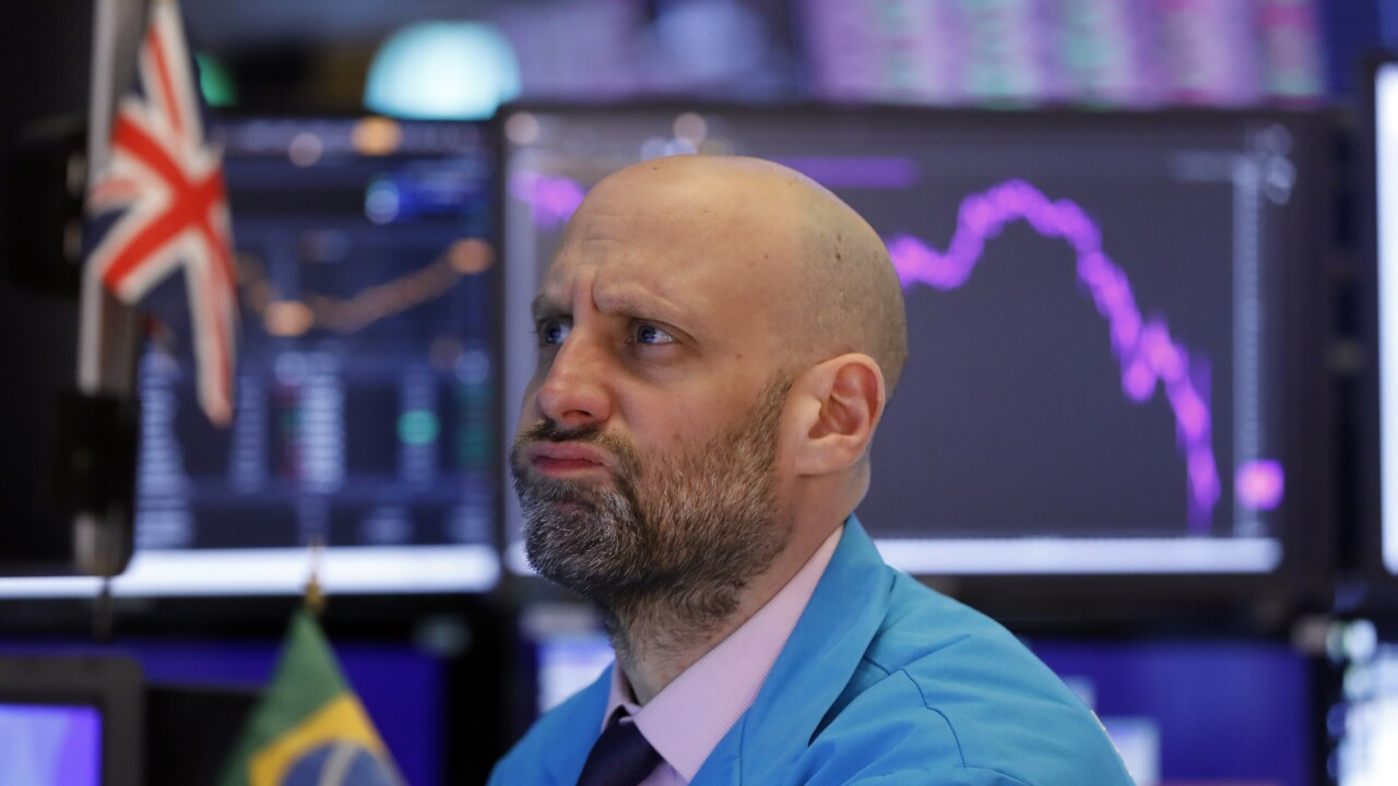 US stocks lower on Monday following their biggest week since 1974