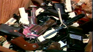 Weapons from gun buyback in 1994