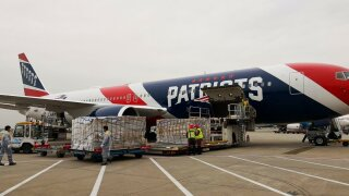 New England Patriots plane leaves China carrying 1.2 million masks for healthcare workers