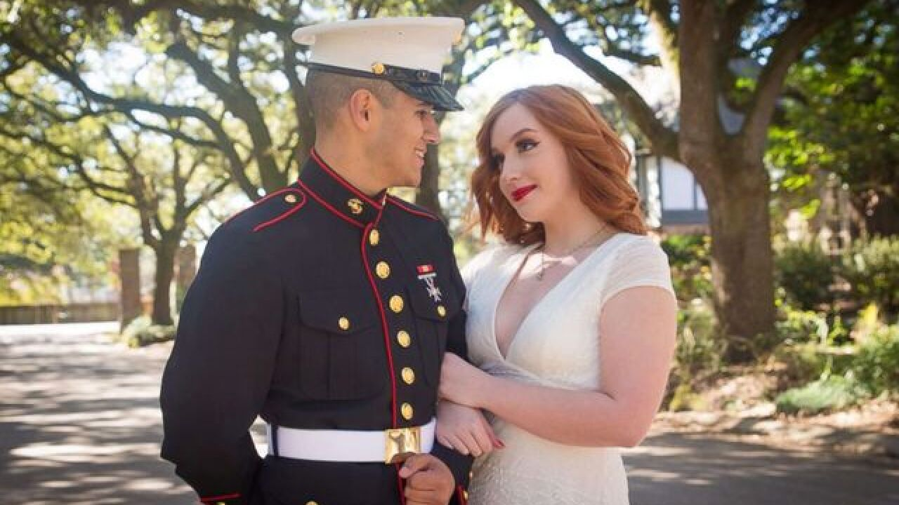 2YO stands in for Marine brother in prom pics