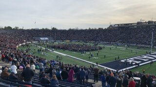 Climate protest disrupts Harvard vs. Yale game