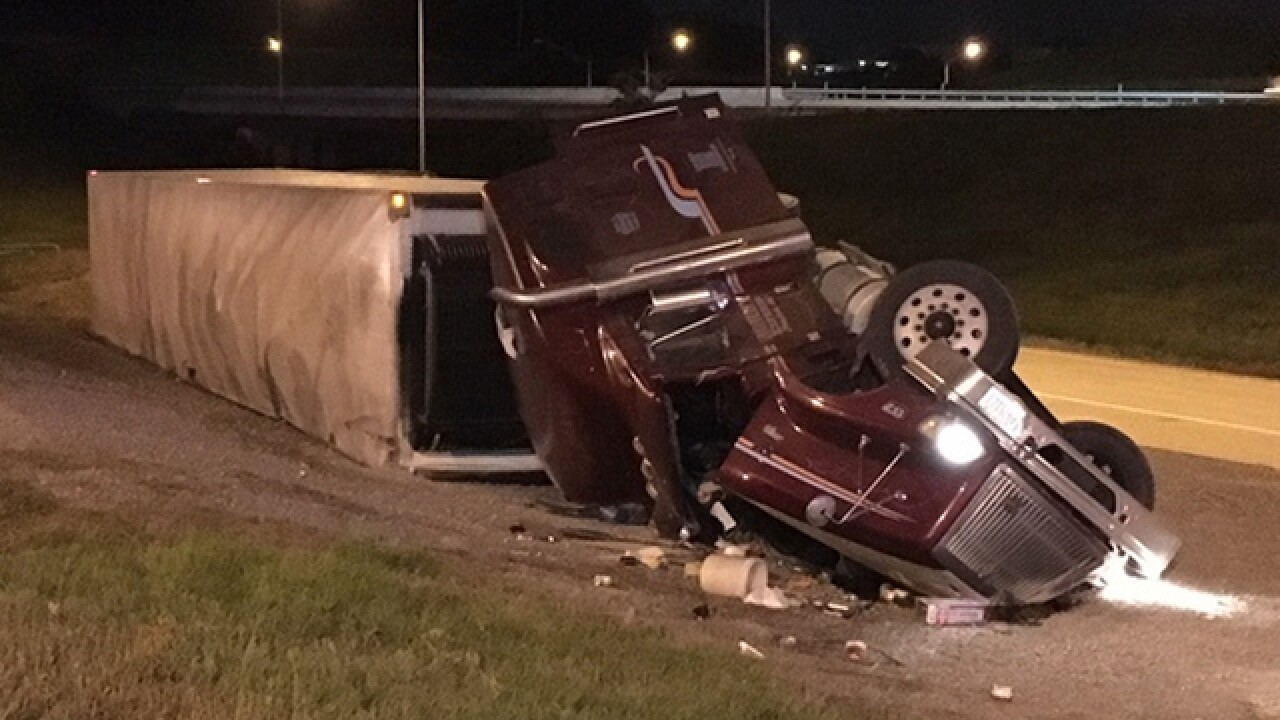 Truck Hauling 44K Pounds Of Cheese Overturns On I-24 Ramp