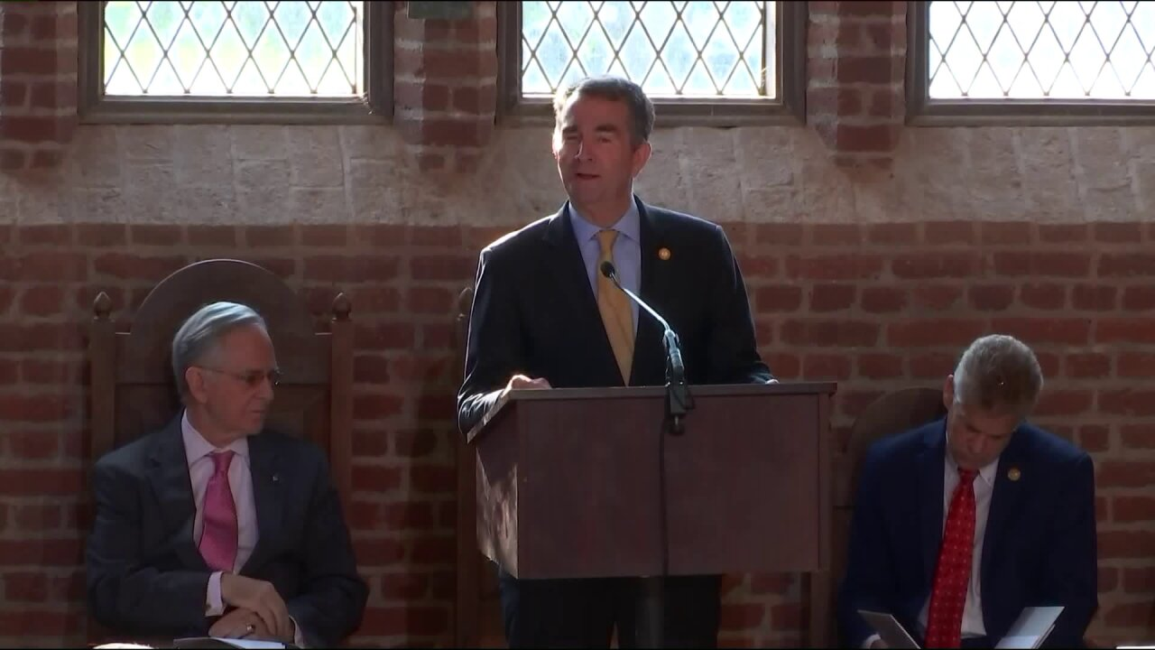 Northam reflects on how democracy came to be at Jamestown commemoration