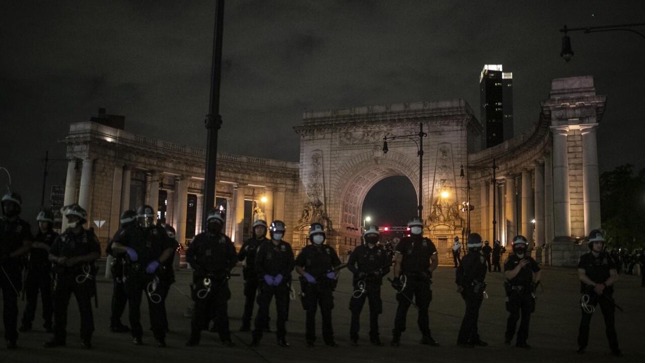 Manhattan Bridge Protests