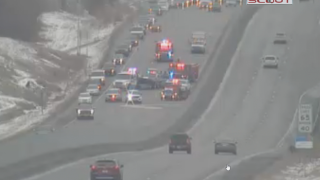Wrong-way crash limits traffic on I-29 near 64th street