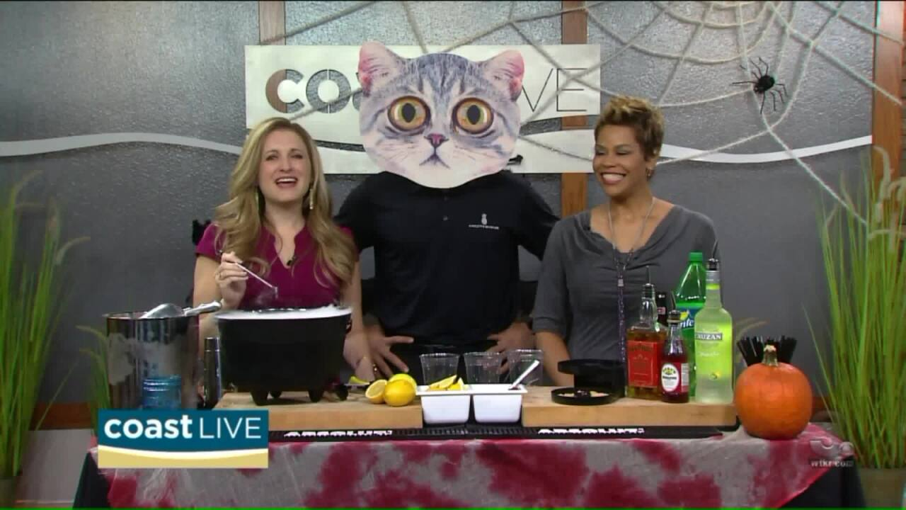 Learning to make spooky spirits for your Halloween party on Coast Live