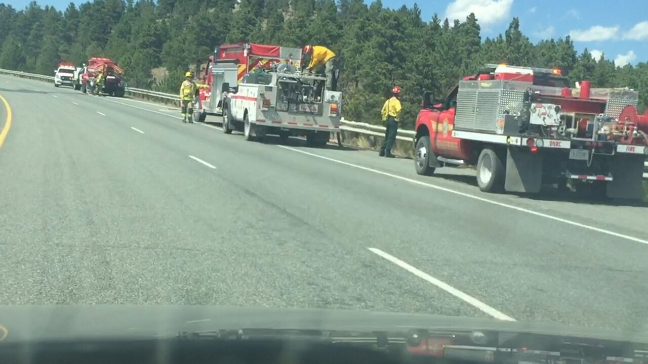 Firefighters control string of small grass fires on I-15 north of Helena