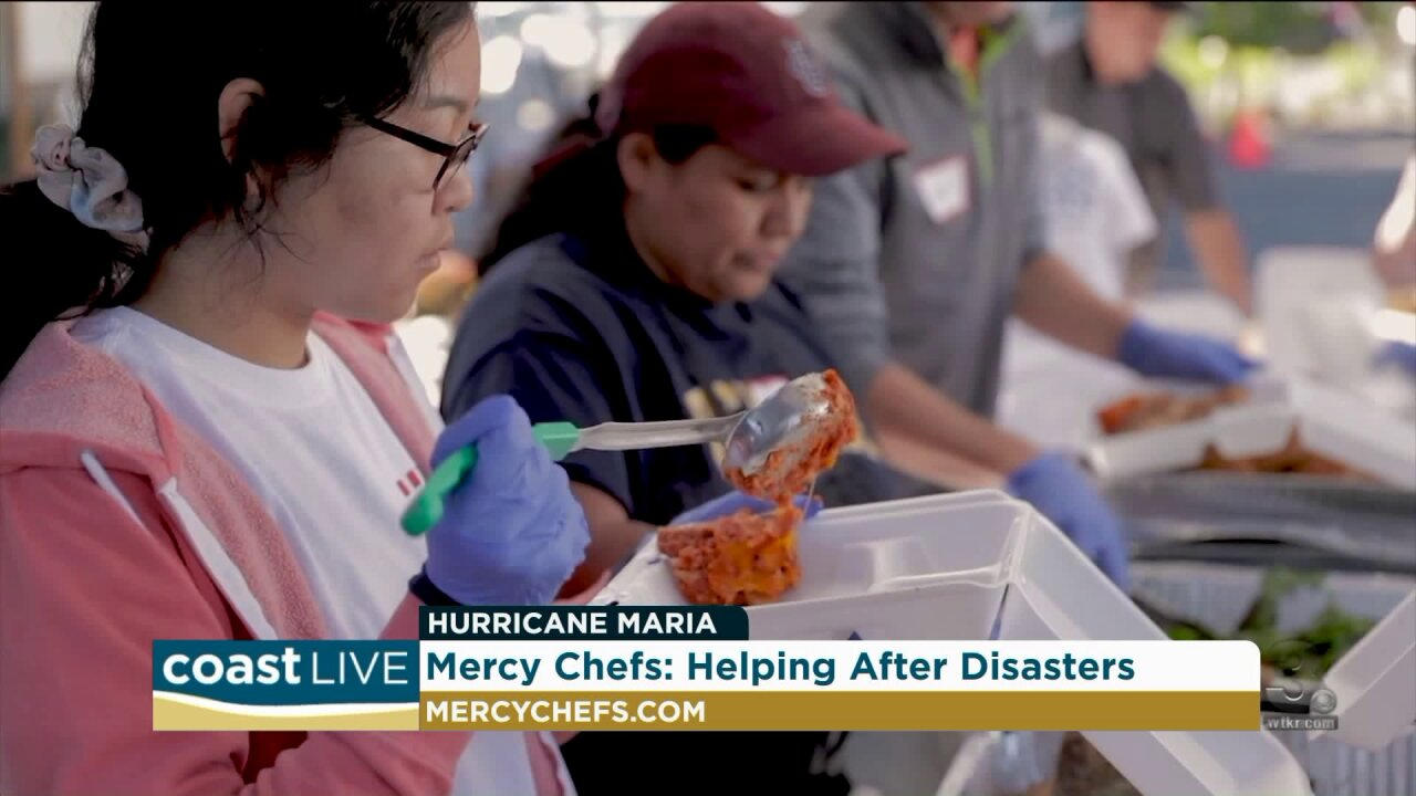 A disaster relief program providing food for those in need on CoastLive