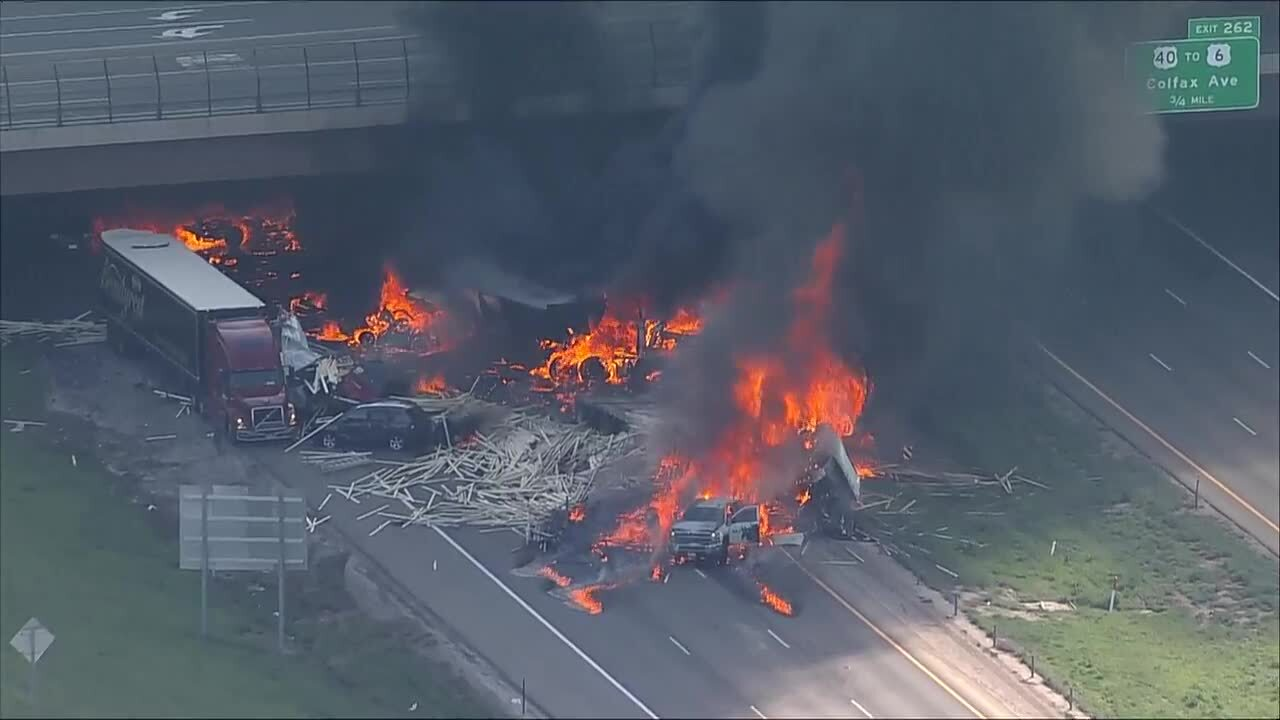 Multiple injuries reported following fiery crash on Colorado interstate