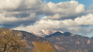 Clouds over Pikes Peak