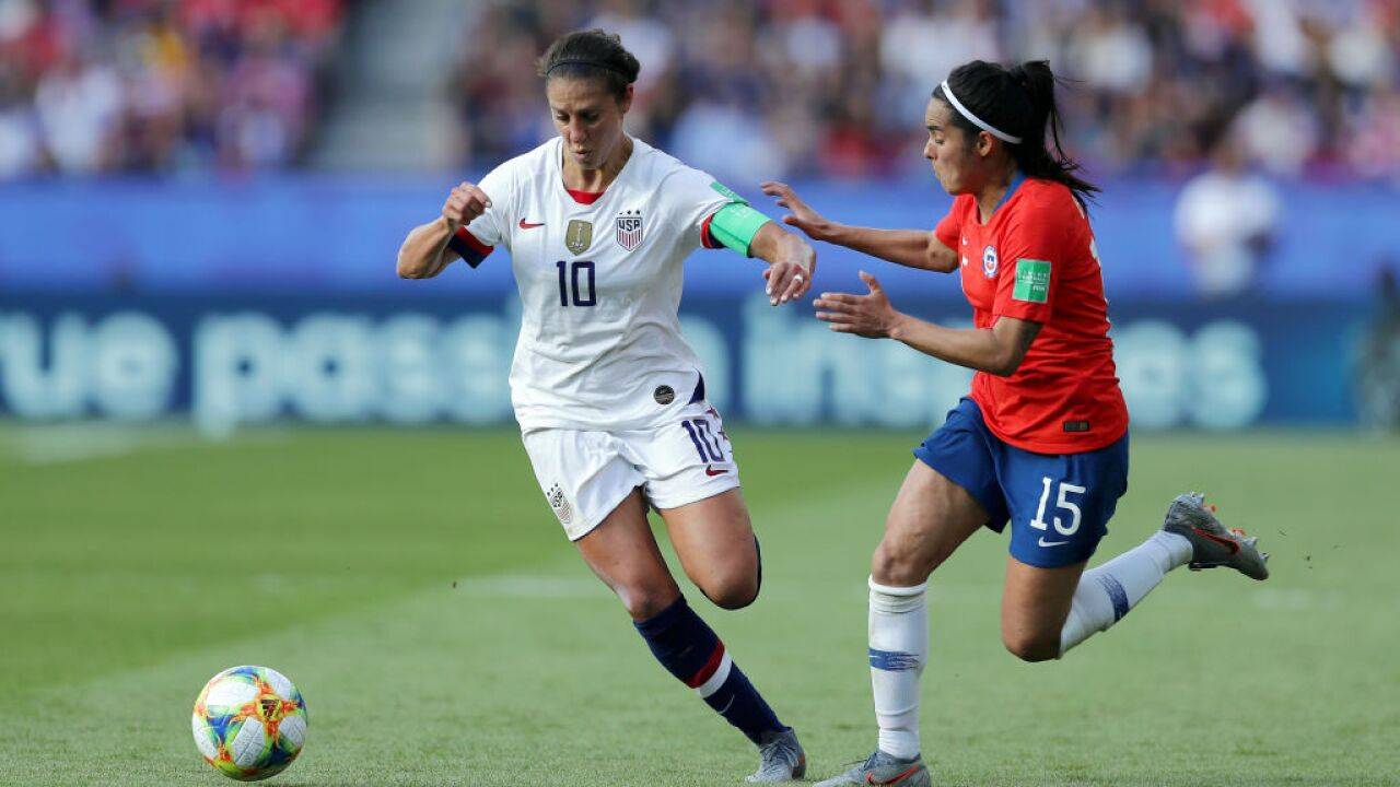 U.S. women's national team sweeps group play, heads to Round of 16 of World Cup