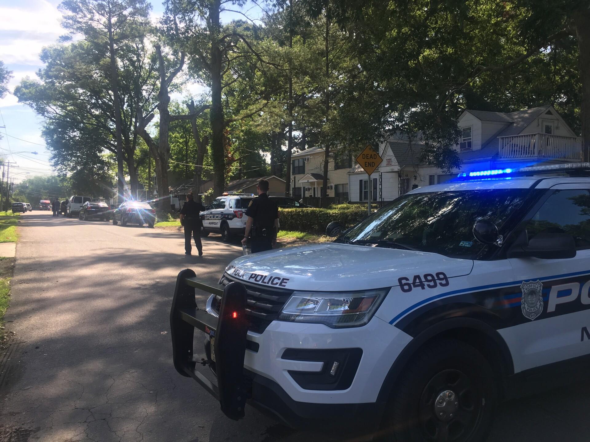 Photos: Man found dead inside Norfolk home after fire; detectives arrest homicide suspect afterchase