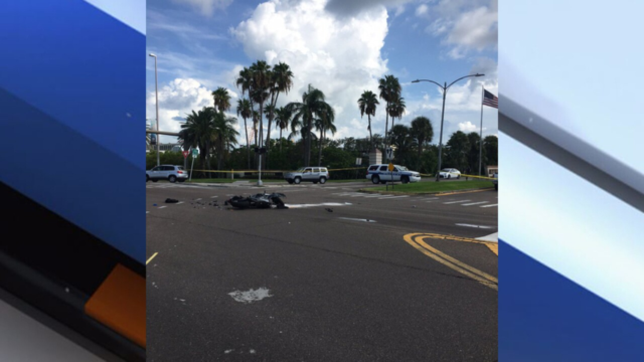 Motorcyclist in critical condition after two-vehicle crash in Clearwater