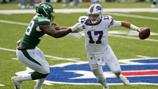Josh Allen not concerned about stats, focused on winning games