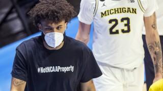 Isaiah Livers Not NCAA Property Shirt APTOPIX NCAA Michigan Texas Southern Basketball