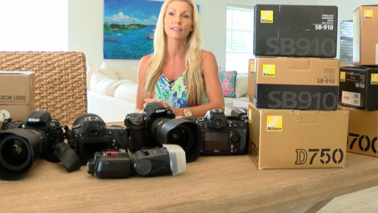 Palm Beach Gardens woman reunited with stolen camera equipment two