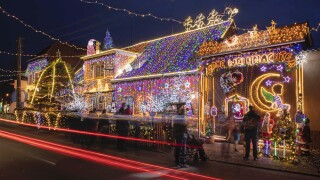 Social media trend has people putting up Christmas lights to spread cheer during COVID-19 outbreak