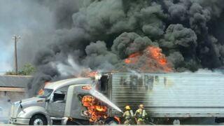 temple 18 wheeler on fire.JPG