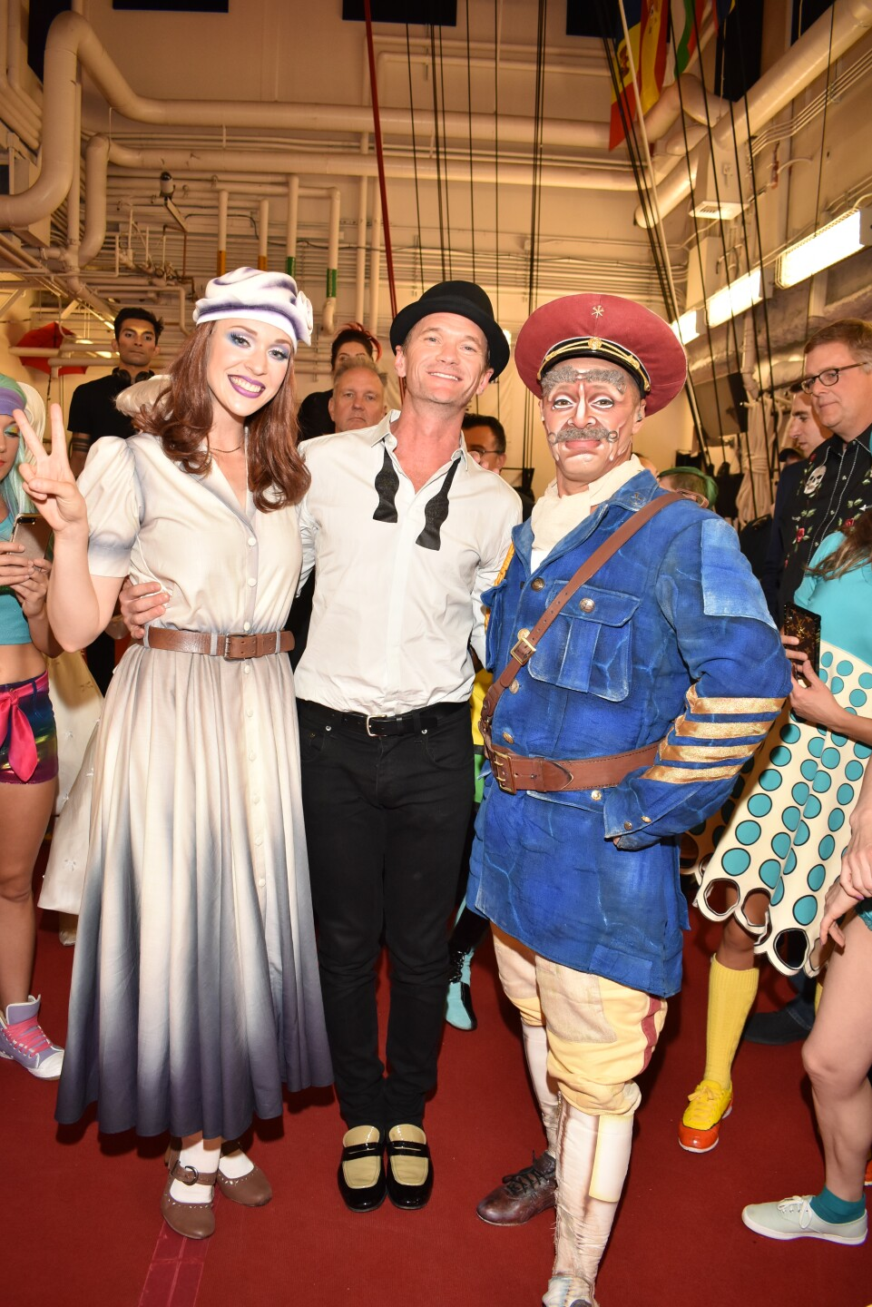 Neil Patrick Harris Poses with Characters from The Beatles LOVE by Cirque du Soleil, Sept. 27, 2019.jpg